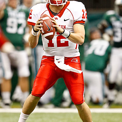 November 10, 2011; New Orleans, LA, USA; Houston Cougars quarterback Cotton Turner (12) against the Tulane Green Wave during the fourth quarter at the Mercedes-Benz Superdome.  Houston defeated Tulane 73-17. Mandatory Credit: Derick E. Hingle-US PRESSWIRE