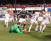 Inverness&rsquo; Owain Fon Williams saves at the feet of Dundee&rsquo;s Greg Stewart - Dundee v Inverness Caledonian Thistle - Ladbrokes Scottish Premiership at Dens Park<br /> <br />  - &copy; David Young - www.davidyoungphoto.co.uk - email: davidyoungphoto@gmail.com