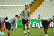 Liverpool defender Virgil van Dijk (4) during the Liverpool Training session ahead of the 2019 UEFA Super Cup Final between Liverpool FC and Chelsea FC at BJK Vodafone Park, Istanbul, Turkey on 13 August 2019.