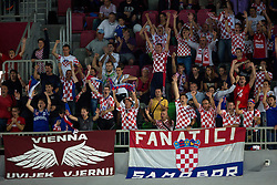 Fans of Croatia during basketball match between national team of Croatia and Italy of Eurobasket 2013 on September 14, 2013 in SRC Stozice, Ljubljana, Slovenia. (Photo By Matic Klansek Velej / Sportida.com)