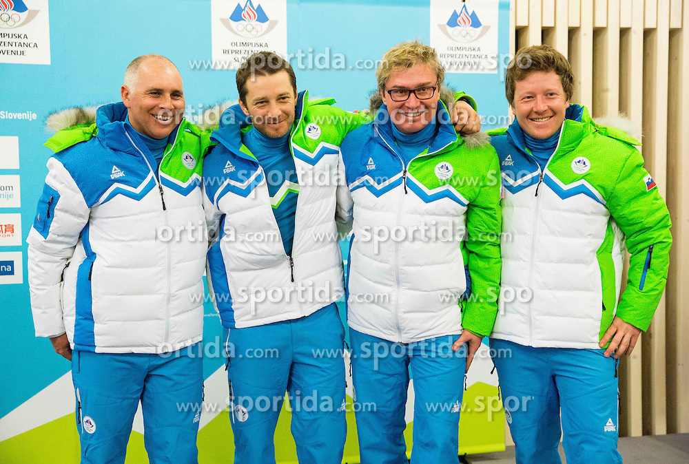 Ales Vidic, Andrej Lukezic, Bostjan Anderlic and Nejc Rebec during presentation of Slovenian Young Athletes before departure to EYOF (European Youth Olympic Festival) in Vorarlberg and Liechtenstein, on January 21, 2015 in Bled, Slovenia. Photo by Vid Ponikvar / Sportida