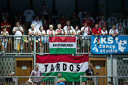 Supporters of Hungary during handball game between Man National Teams of Slovenia and Hungary in 2019 Man's World Championship Qualification, on June 9, 2018 in Arena Bonifika, Ljubljana, Slovenia. Photo by Urban Urbanc / Sportida