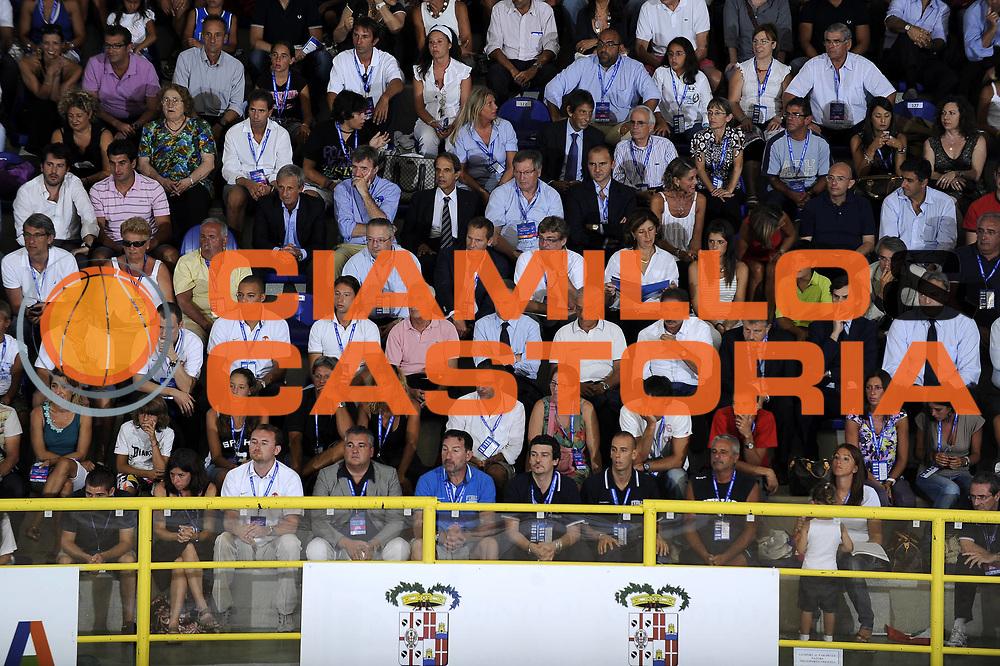 DESCRIZIONE : Cagliari Eurobasket Men 2009 Additional Qualifying Round Italia Francia<br /> GIOCATORE : Meneghin Colangelo Mainini Petrucci Silvestri Bertea VIP<br /> SQUADRA : Francia France<br /> EVENTO : Eurobasket Men 2009 Additional Qualifying Round <br /> GARA : Italia Francia Italy France<br /> DATA : 05/08/2009 <br /> CATEGORIA : ritratto<br /> SPORT : Pallacanestro <br /> AUTORE : Agenzia Ciamillo-Castoria/G.Ciamillo