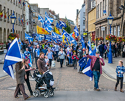 Pictured: All Under One Banner Independence March, Perth,  Scotland, United Kingdom, 07 September 2019. Independence supporters march through Perth in the latest All Under One Banner (AUOB) march of this year. The last march for 2019 is planned in Edinburgh next month.<br /> Sally Anderson | EdinburghElitemedia.co.uk