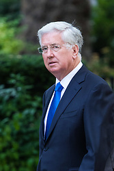 London, June 20th 2017. Defence Secretary Michael Fallon attends the weekly cabinet meeting at 10 Downing Street in London.