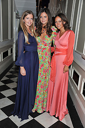 Left to right, KATIE READMAN, LADY NATASHA RUFUS ISAACS and LAVINIA BRENNAN at a reception hosted by Beulah London and the United Nations to launch Beulah London's AW'11 Collection 'Clothed in Love' and the Beulah Blue Heart Campaign held at Dorsia, 3 Cromwell Road, London SW7 on 18th October 2011.