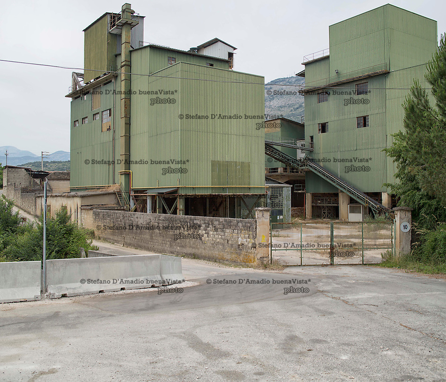 ex fabbrica di lavaggio del materiale estratto dalle cave<br />