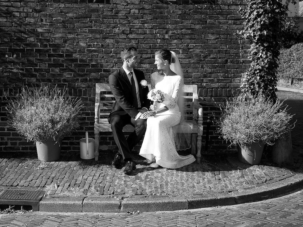 Bruidsfotografie monochroom