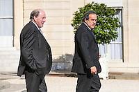 Michel PLATINI / Jacques LAMBERT - 10.06.2015 - Rencontre autours de l'Euro 2016 - L'Elysee <br /> Photo : Icon Sport / Sebastien Muylaert