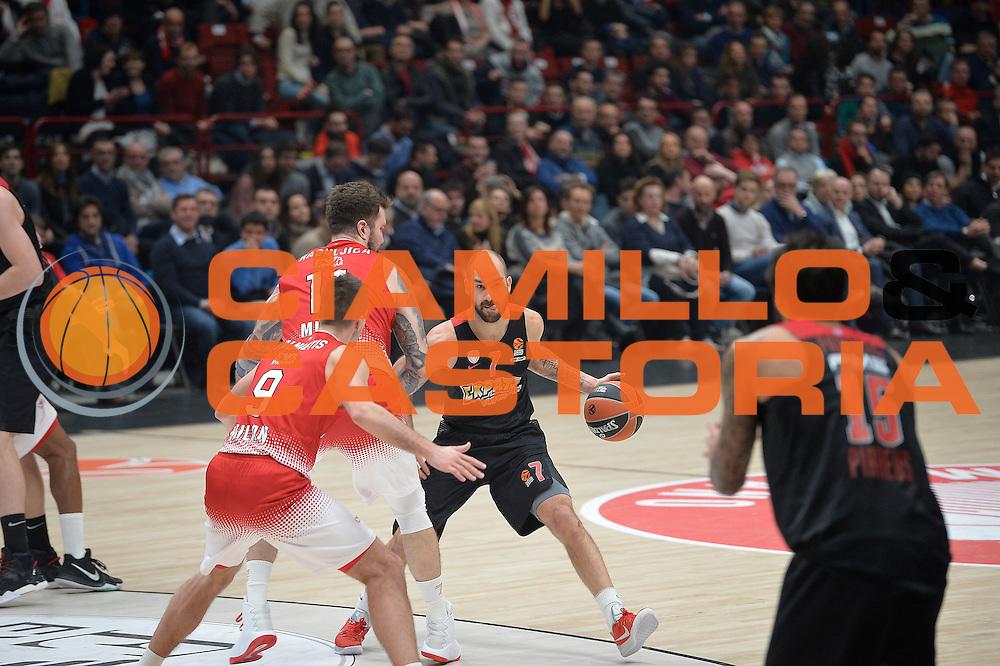 Spanoulis Vassilis<br /> EA7 Emporio Armani Olimpia Milano - Olympiacos Piraeus<br /> Euroleague 2016/2017<br /> Milano 25/01/2017<br /> Foto Ciamillo-Castoria