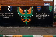 An Irish republican mural in a Catholic are of Belfast, on 7th June 1995, in Belfast, Northern Ireland, UK.
