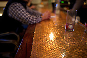 The Kennedy Room features a bar made of thousands of pennys on Friday, January 18, 2013 in Dallas, Tx. (Cooper Neill/The Dallas Morning News)