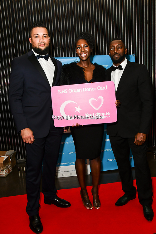 Joe Joyce attend The BAME Donor Gala - Awareness gala hosted by the Health Committee with live music and poetry performances at City Hall at The Queen's Walk, London, UK. 18 March 2019.