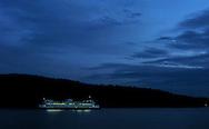 A ferry in the San Juan Islands, Washington State.