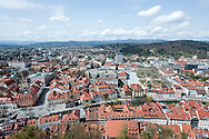 View of Ljubljana from the Castle. Ljubljana, Slovenia © Rudolf Abraham