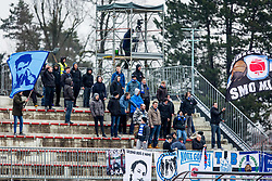 ND Gorica fans during football match between NK Triglav Kranj and ND Gorica in Round #24 of Prva Liga Telekom Slovenije 2017/18, on March 18, 2018 in Sportni park Kranj, Kranj, Slovenia. Photo by Ziga Zupan / Sportida