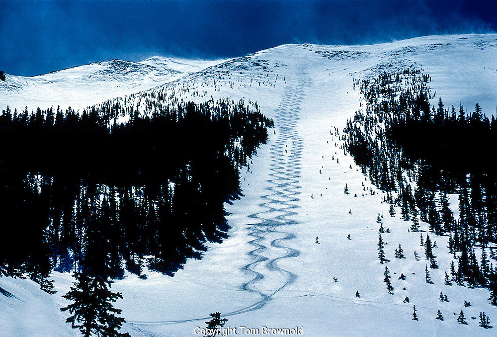 Back country skiing on the San Francisco Peaks