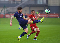 KIRKBY, ENGLAND - Sunday, October 21, 2018: Derby County's Jacob Butterfield during the Under-23 FA Premier League 2 Division 1 match between Liverpool FC and Derby County at The Kirkby Academy. (Pic by David Rawcliffe/Propaganda)