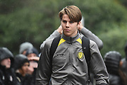 Burton Albion midfielder Martin Samuelsen (20), on loan from West Ham United, arrives at Craven Cottage prior to the EFL Sky Bet Championship match between Fulham and Burton Albion at Craven Cottage, London, England on 20 January 2018. Photo by Richard Holmes.