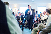 The Republican Presidential candidate Chris Christie (NJ) holds a town hall meeting at the White Rock Senior Living Community in Bow, NH. ahead of the primary election.