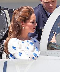 APR 19 2014 Duke and Duchess of Cambridge visit RAAF Base Amberley
