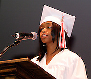 Class treasurer Kryshanna Pierce speaks during the Trotwood-Madison High School Commencement at the Victoria Theatre in downtown Dayton, Tuesday, June 1, 2010.