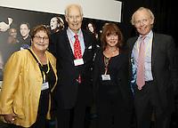Pauline Etkin (Nordoff-Robbins MD), Sir George Martin CBE, Lesley-Anne Jones and Jonathan Morrish. The BRIT School Industry Day, Croydon, London..Thursday, Sept.22, 2011 (John Marshall JME)