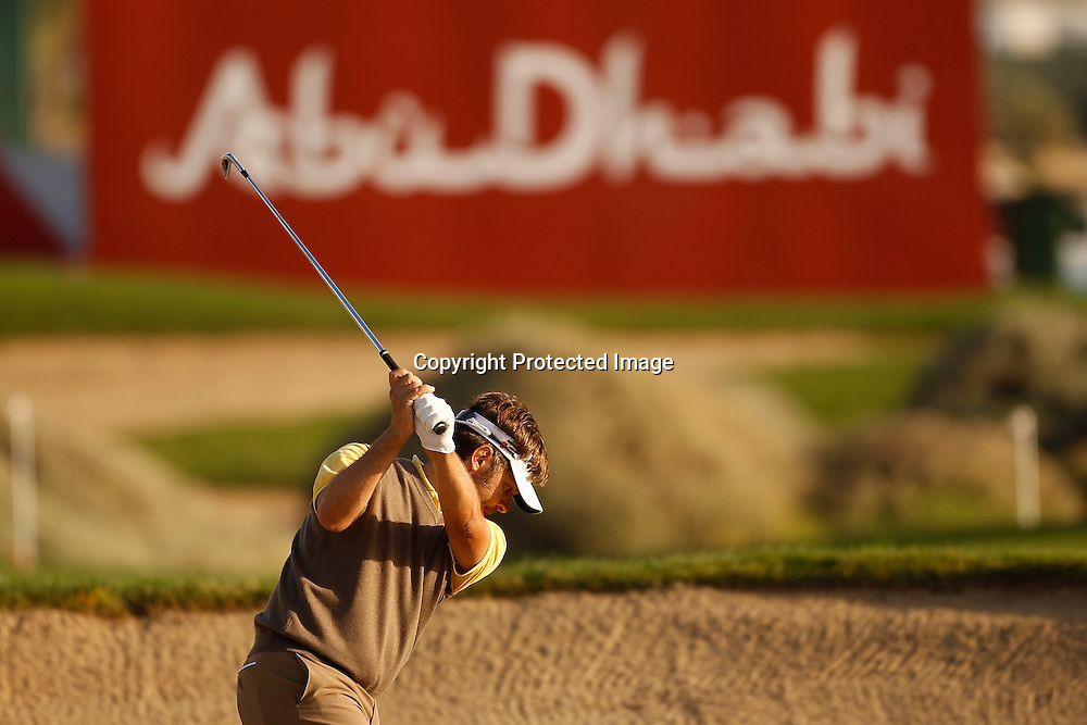 17/01/2013 European Tour 2013, Abi Dhabi HSBC Golf Championship, Abu Dhabi Golf Club, Abu Dhabi, United Arab  Emirates. 17-20 Jan. Jose Manuel  Lara of Spain during the first round.