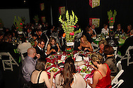 Patrons have dinner in the main dining room during the 2013 Boonshoft Gala at the Boonshoft Museum of Discovery in Dayton.  The theme, Hip to be Square, is reflected in exhibits and demonstrations during the evening.