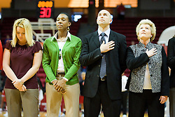 20 November 2010: Redbird coaching staff (l-r) Sheila Roux, Danielle Santos, Travis Cantrell, Stephanie Glance during an NCAA Womens basketball game between the Southern Illinois-Edwardsville Cougars and the Illinois State Redbirds at Redbird Arena in Normal Illinois.