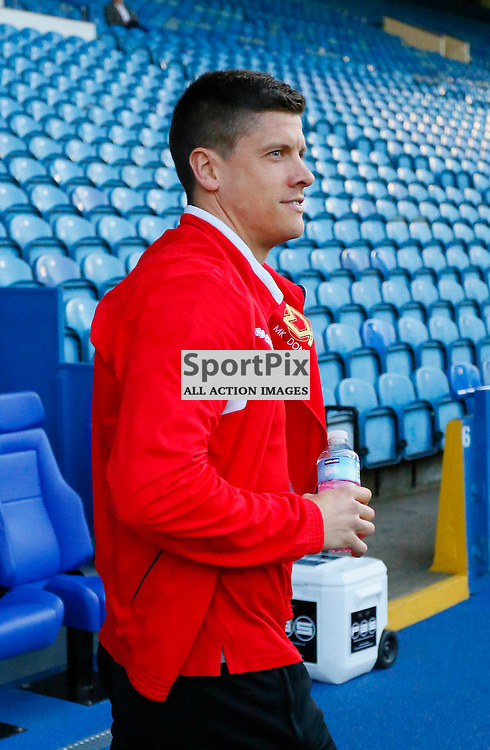 MK Dons forward Alex Revell all smiles since his penalty save from the weekend ahead of Sheffield Wednesday v Milton Keynes Dons, SkyBet Championship, Tuesday 19th April 2016, Hilsborough, Sheffield