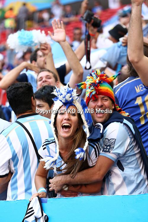 Fifa Soccer World Cup - Brazil 2014 - <br /> ARGENTINA (ARG) Vs. BELGIUM (BEL) - Quarter-finals - Estadio Nacional Brasilia -- Brazil (BRA) - 05 July 2014 <br /> Here Argentinef and after match celebration<br /> &copy; PikoPress
