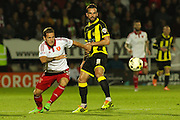Sheffield United forward Billy Sharp keeps his eyes on the ball during the Sky Bet League 1 match between Burton Albion and Sheffield Utd at the Pirelli Stadium, Burton upon Trent, England on 29 September 2015. Photo by Aaron Lupton.