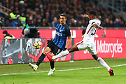 Matias Vecino of Inter and Gerson of AS Roma during the Italian championship Serie A football match between FC Internazionale and AS Roma on January 21, 2018 at Giuseppe Meazza stadium in Milan, Italy - Photo Morgese - Rossini / ProSportsImages / DPPI