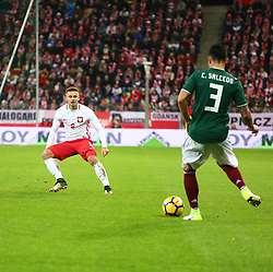 November 13, 2017 - Gdansk, Poland - Karol Linetty, Carlos Salcedo during the international friendly soccer match between Poland and Mexico at the Energa Stadium in Gdansk, Poland on 13 November 2017  (Credit Image: © Mateusz Wlodarczyk/NurPhoto via ZUMA Press)