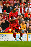 Rhian Brewster of Liverpool (24) in action during the Pre-Season Friendly match between Bradford City and Liverpool at the Northern Commercials Stadium, Bradford, England on 14 July 2019.