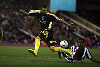 Photo: Rich Eaton.<br /> <br /> West Bromwich Albion v Cardiff City. Carling Cup. 25/09/2007. Cardiff's Joe Ledley (L) attacks