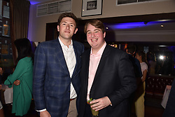 Left to right, Will Lankston and Ned Donovan at The Tribe Syndicate launch party hosted by Highclere Thoroughbred Racing at Beaufort House, 354 King's Rd, London England. 25 April 2018.