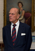 Prince Philip The Duke of Edinburgh, Colonel in Chief of The Grenadier Guards, today visited to the 1st Battalion&rsquo;s Rear Operations Group (ROG) at Battalion Headquarters, Lille Barracks, Aldershot 09/07/2012<br /> &nbsp;<br /> <br /> The Duke of Edinburgh was met by the Lieutenant Colonel (Major General George Norton) and Officer Commanding ROG (Maj David Groom).<br /> &nbsp;<br /> There was a briefing on Op HERRICK 16 and the ROG (Maj David Groom) and Casualties and Welfare (Capt Ian Farrell, Unit Welfare Officer).<br /> There was also an Elizabeth Cross Presentation to the family of Guardsman Michael Roland, Killed In Action on Operation HERRICK 16 on 27 April 2012.<br /> <br /> 09/07/2012.<br /> Please Credit: Cpl Mark Larner RY/MOD