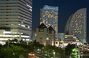 Intercontinental Hotel and other high rise buildings at Yokohama Financial district