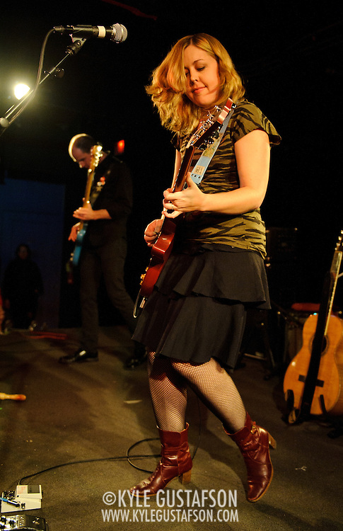 WASHINGTON, D.C. - OCTOBER 30th, 2010:  Former Sleater Kinney member Corin Tucker brings her new band, The Corin Tucker Band, to the Black Cat. (Photo by Kyle Gustafson/For The Washington Post)