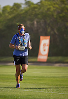 Abby Wambach at IMG in Florida being tested as part of her GSSI evaluations.