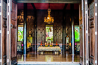 buddha altar at Jim Thompson House museum Bangkok Thailand