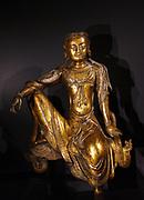 Seated bodhisattva, gilt bronze, song dynasty 1150-1250.