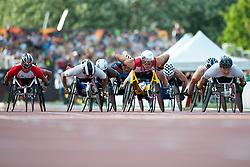 HUG Marcel, KIM Gyu Dae, HONG Sukman, HIGUCHI Masayuki, SUI, KOR, JPN, 1500m, T54, 2013 IPC Athletics World Championships, Lyon, France