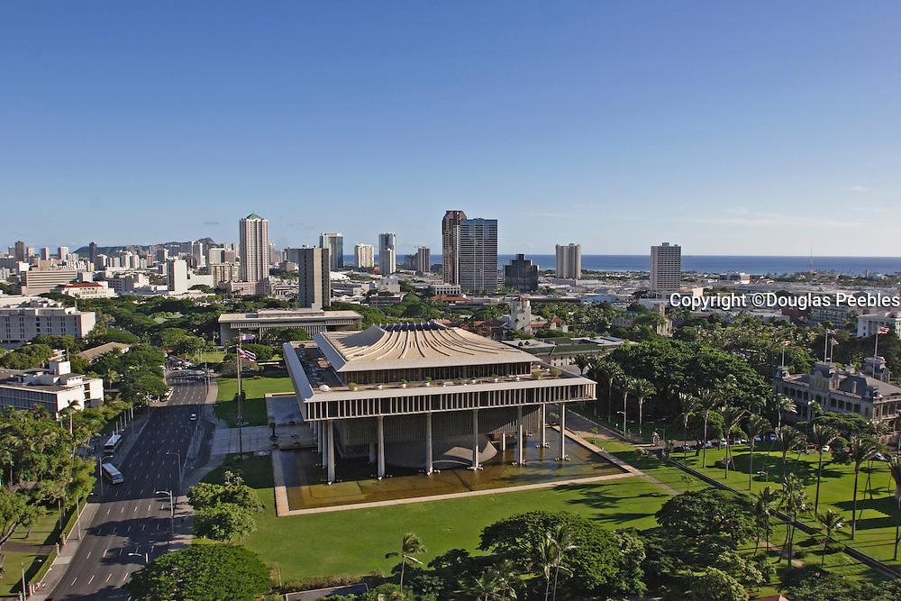 State Capitol Building; Honolulu; Oahu; Hawaii