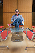 Brent Robinson poses for a photo in a conference room on Tuesday, March 10, 2015, in Fayetteville, Ark..