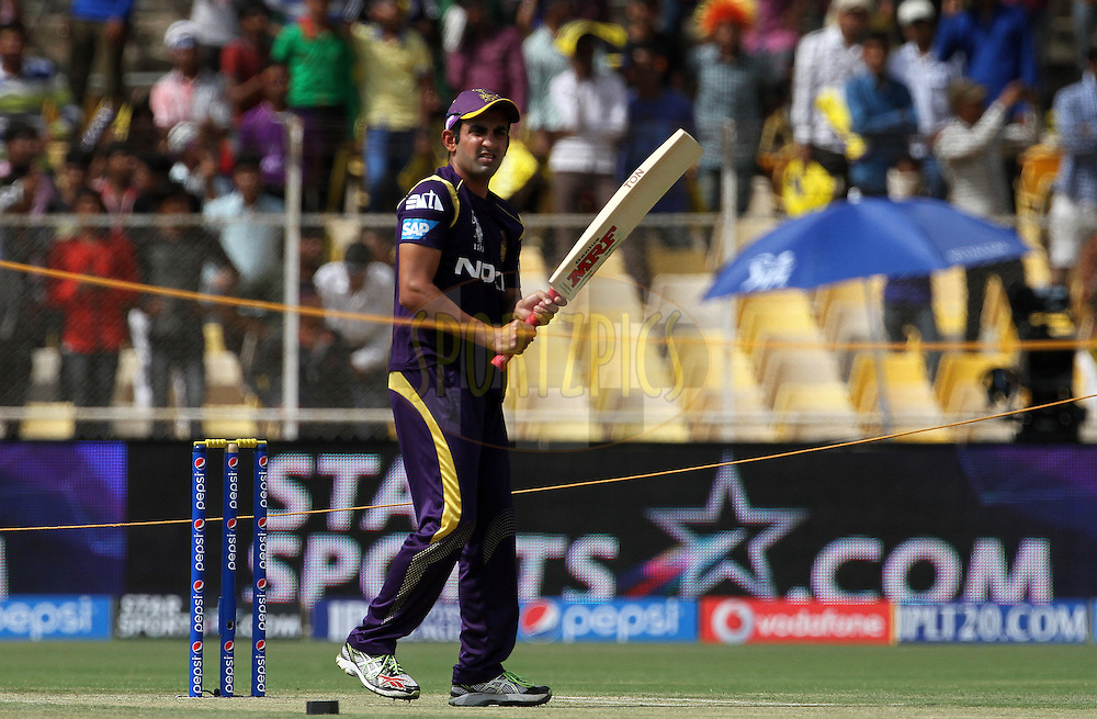 Gautam Gambhir captain of the Kolkata Knight Riders during the practise session of match 25 of the Pepsi Indian Premier League Season 2014 between the Rajasthan Royals and the Kolkata Knight Riders held at the Sardar Patel Stadium, Ahmedabad, India on the 5th May  2014<br /> <br /> Photo by Vipin Pawar / IPL / SPORTZPICS      <br /> <br /> <br /> <br /> Image use subject to terms and conditions which can be found here:  http://sportzpics.photoshelter.com/gallery/Pepsi-IPL-Image-terms-and-conditions/G00004VW1IVJ.gB0/C0000TScjhBM6ikg