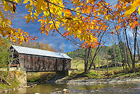 Larkin covered bridge Green Mountains Vermont USA