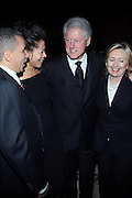 l to r: Governor David Patterson, New York State First Lady Michelle Paige Patterson, Former President Bill Clinton, U.S.Secretary of State Hillary Clinton at The Amsterdam News 100th Anniversary Gala held at the David H. Koch Theater at Lincoln Center on November 30, 2009 in New York City. © Terrance Jennings / Retna Ltd.